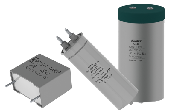 Film capacitors target energy and automotive designs