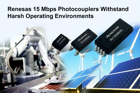 15 Mbps photocouplers for harsh industrial applications